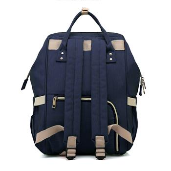 Baby Diaper Bag Multi-Function Travel Backpack Baby Nappy Changing Mommy Bags Dark Blue