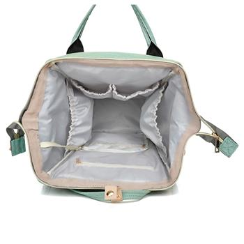 Baby Diaper Bag Multi-Function Travel Backpack Baby Nappy Changing Mommy Bags Light Green