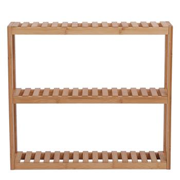 100% Bamboo Bathroom Rack 3 Layers Multifunctional Wall Storage Rack Adjustable Layer Can Be Used For Independent Toilet Utility Shelf Living Room Kit