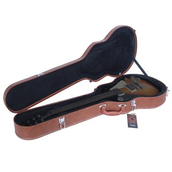 Glarry Hard-Shell Electric Guitar Case Bulge Surface Brown