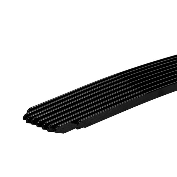Black Polished Aluminum Main Upper Lower Bumper Grille for 2008-2012 Chevy Malibu