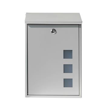 Galvanized Sheet Wall Mounted Mail Box Letter Box Silver