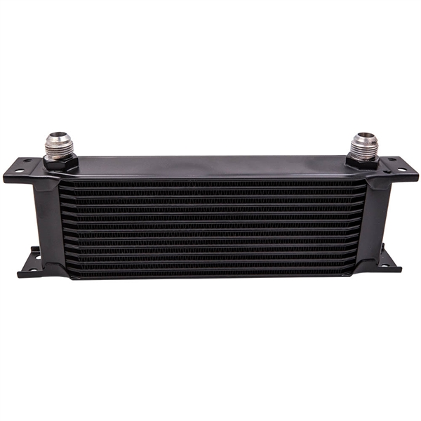 13 Row AN10 Engine Racing Trust Oil Cooler w/ Thermostat Oil Filter Adapter Kit