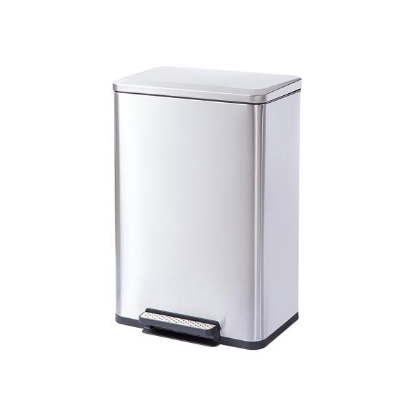 Rectangle, Stainless Steel, Soft-Close, Step Trash Can, 30L 8gal