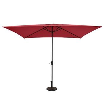 10FT Square Umbrella Waterproof Folding Sunshade Wine Red(Resin Baseis not included, and 75690825、65010574、94617980、53133242 codes are required for th