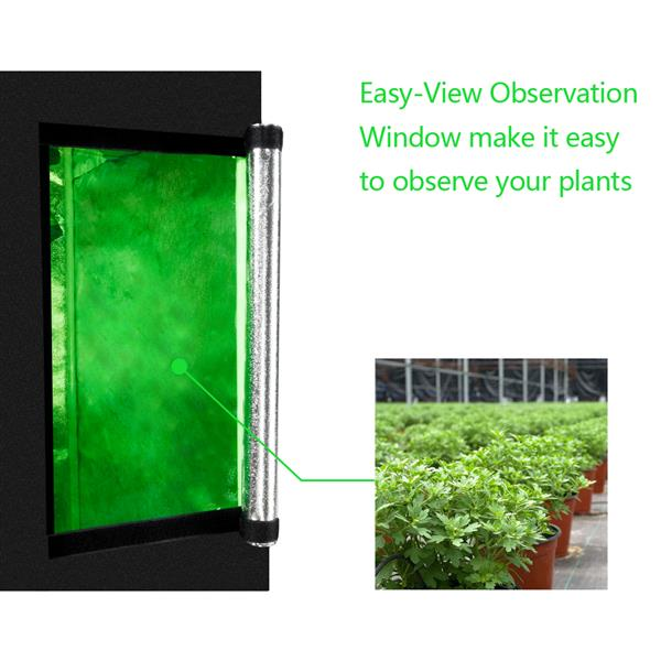 LY-60*60*120cm Home Use Dismountable Hydroponic Plant Growing Tent with Window Green & Black
