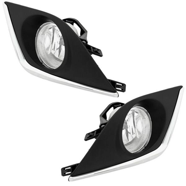 PAIRS FOR 14-15 TOYOTA COROLLA 4DR CLEAR LENS DRIVING FOG LIGHT LAMP&SWITCH