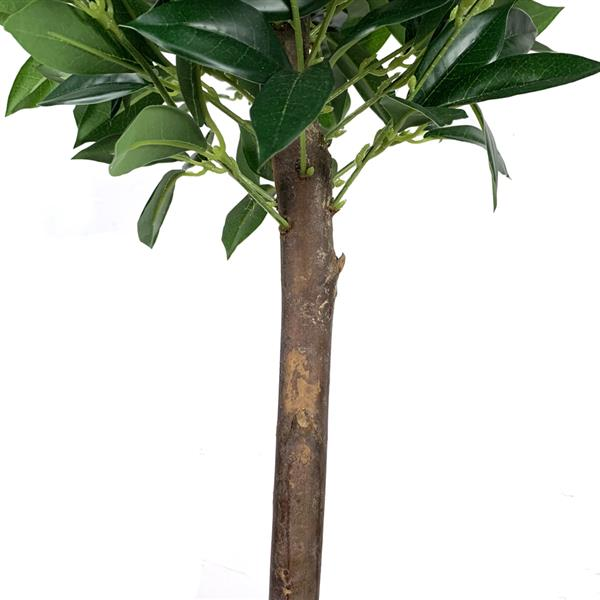 4ft Laurel Tree Solid Wood Fabric Silk Flower Green Indoor and Outdoor General Simulation Tree