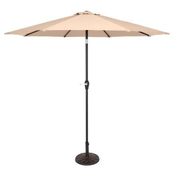 9FT Central Umbrella Waterproof Folding Sunshade Top Color(Resin Baseis not included, and 75690825、65010574、94617980、53133242 codes are required for t