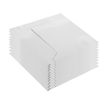 100pcs Short Side Opening 15.3*15.3cm (6in*6in) Paper Envelope Bag White