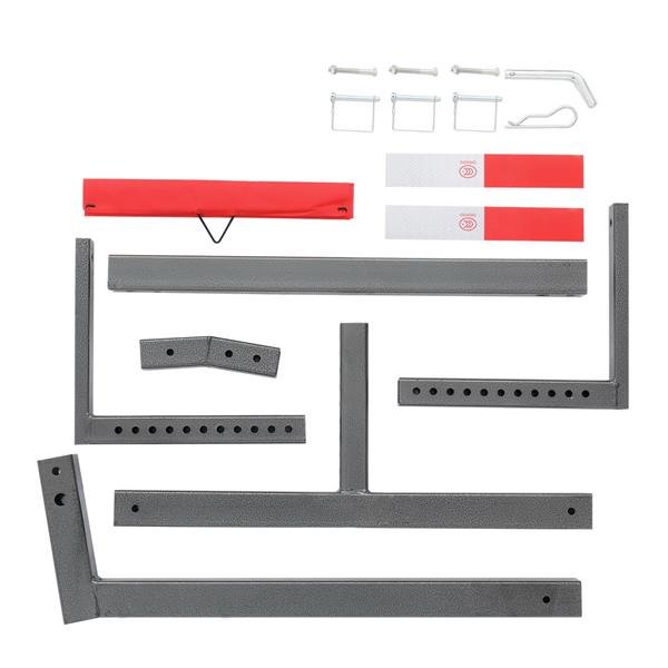 Heavy Duty Steel Pick Up Truck Bed Extender with Ratchet Straps   The Hitch Mount Truck Bed Extension can be Used for Lumber or a Ladder or a Canoe & Kayak