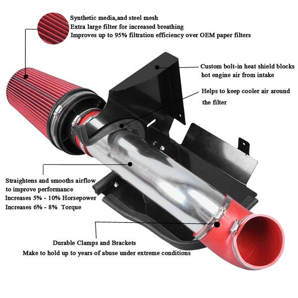BX-CAIK-02 Cold Air Intake System for BX-CAIK-02 Red