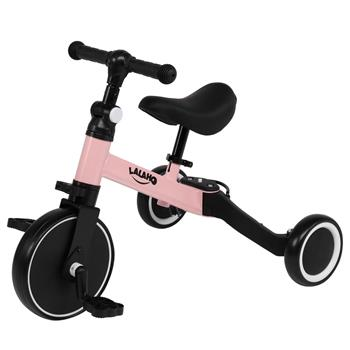 Kids 3 in 1 Tricycles Pink