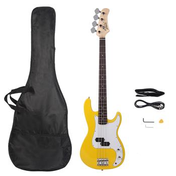 Glarry GP Electric Bass Guitar Cord Wrench Tool Yellow