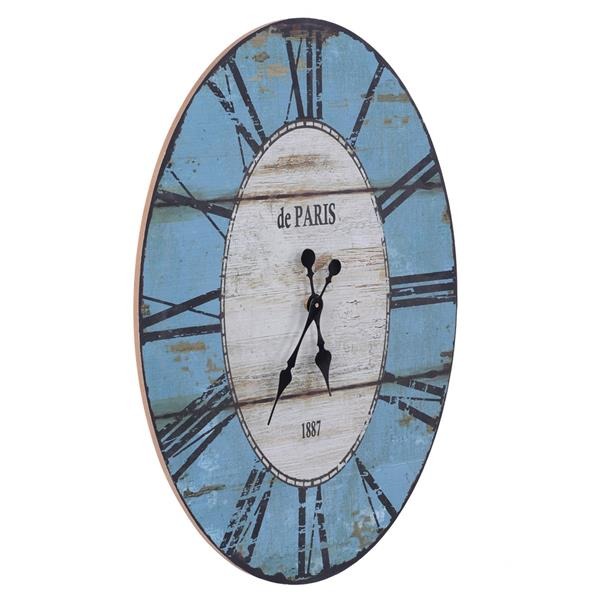 Artisasset Decorative Mirror Oval Blue and White