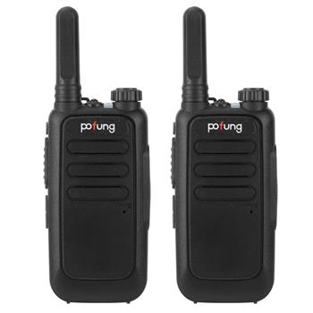 2 pcs  Pofung T15 FRS Digital Tube, Flashlight, 16 Channels, Dual Knobs (Fixed Antenna), Aluminum Alate Shielding 2W/0.5W Integrated Walkie-talkie 150