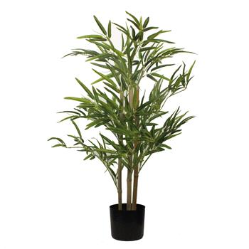 3FT Bamboo Cloth Silk Flower Green Indoor and Outdoor General Simulation Tree