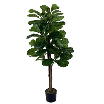 Qin Yerong Solid Wood Cloth Silk Flower 4ft Green Indoor and Outdoor Universal British Simulation Tree