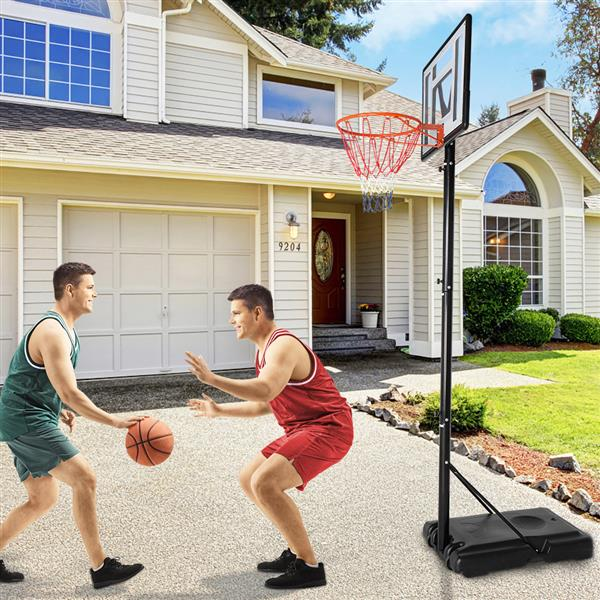 Basketball Hoop Outdoor Portable Basketball Goals, Adjustable Height 7ft - 10ft for Adults & Teenagers