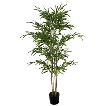 5ft Bamboo Cloth Silk Flower Green Indoor and Outdoor General Simulation Tree
