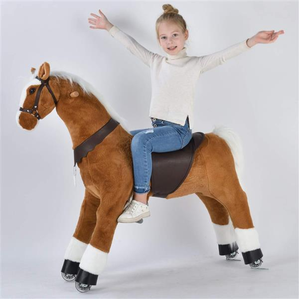 UFREE Large 44'' Ride-on Horse for Children 6 Years Old to Adult. (White Mane and Tail) (DO NOT SELL ON AMAZON) (DISCOUNT ON BULK PURCHASE)