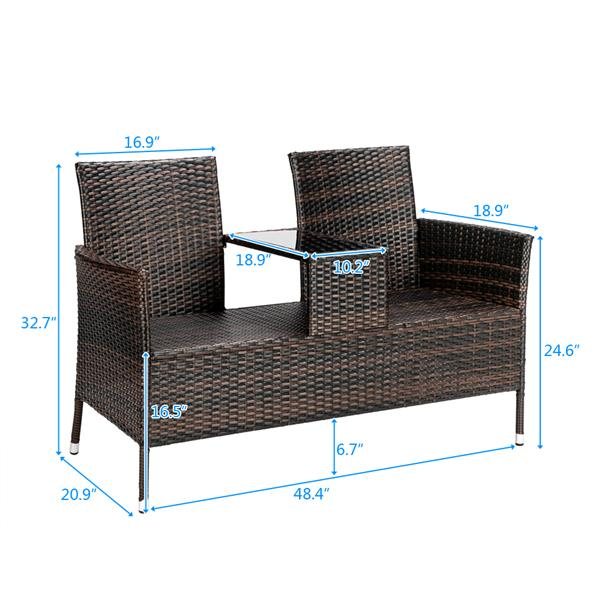 1pc Lover Chair Brown Gradient