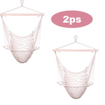 2pcs Cotton Hanging Rope Air/Sky Chair Swing beige