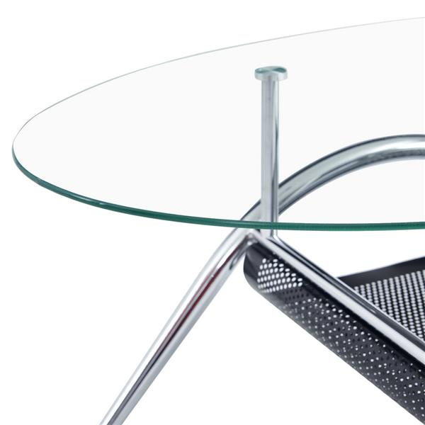 100*60*43cm Double-Glazed Dining Table Stainless Steel Table Legs