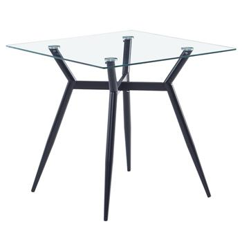 80*80*75cm Glass Dining Table