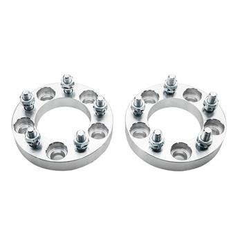 2pcs Professional Hub Centric Wheel Adapters for Dodge 2008-2011 Ford 1960-2011 Jeep 1986-2007 Silver