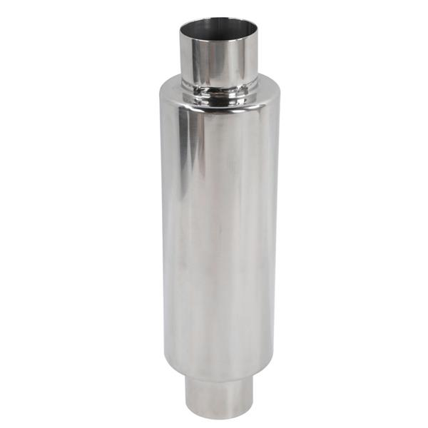 Polished Stainless Steel Straight Through Performance Muffler for Universal Application