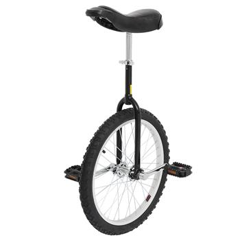 24 Inch Wheel Unicycle with Aluminum Alloy Rim Black