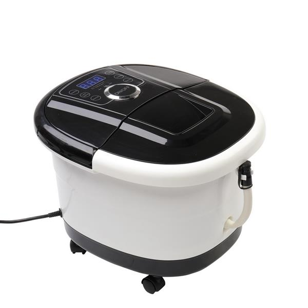 Foot Spa Foot Bath Massager with Touch Screen Digital Display Frequency Conversion 300/400/500W, Automatic Roller, Stress Relief for Tired Feet 110V Black