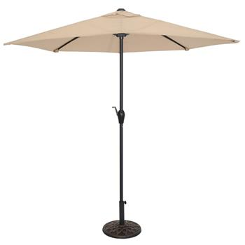 9FT Half Umbrella Waterproof Folding Sunshade Top Color(Resin Baseis not included, and 75690825、65010574、94617980、53133242 codes are required for the