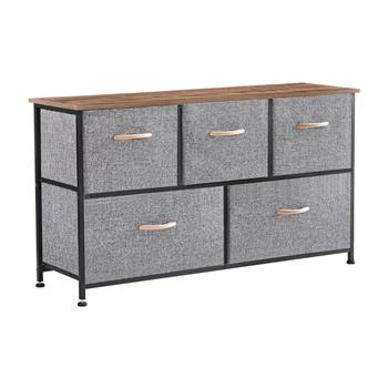 Dresser Storage Organizer, 5 Drawer Dresser Tower Unit for Bedroom Hallway Entryway Closets, Small Dresser Clothes Storage with Wide Sturdy Steel Fram