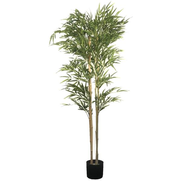 6ft Bamboo Cloth Silk Flower Green Indoor and Outdoor General Simulation Tree