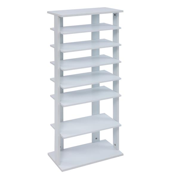 7 Tiers Shoe Rack,Wooden Shoes Racks, Entryway Shoes Storage Stand,White Color
