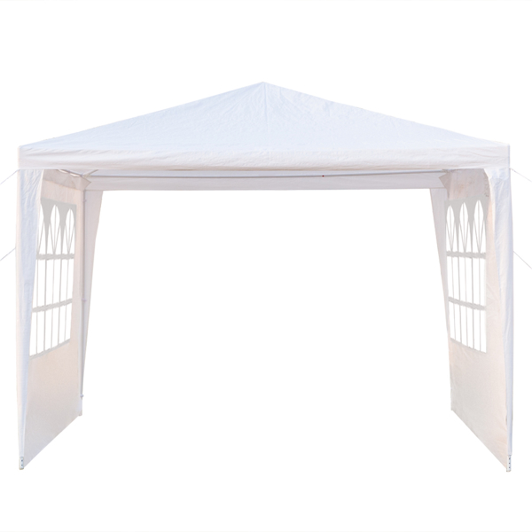 3 x 3m Three Sides Waterproof Tent with Spiral Tubes White