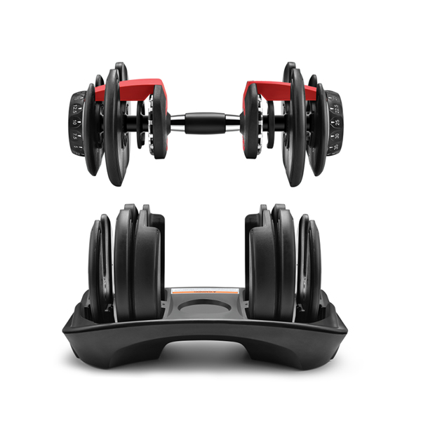 Heavy Duty Weight Adjustable Dumbbells 52lbs Fitness Equipment strength-training at home Dumbbell adjusts from 5 to 52.5 pounds(Single)