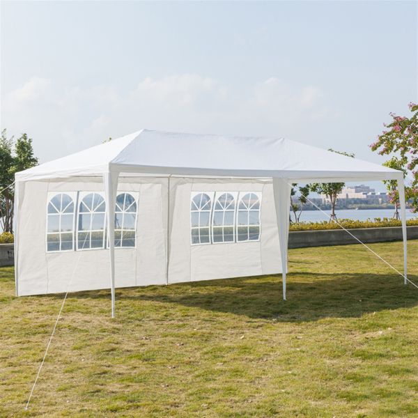 3 x 6m Four Sides Waterproof Tent with Spiral Tubes White
