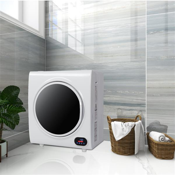 ZOKOP GYJ40-88C1-E Compact Portable Household Clothes Dryer 2.6CUFT Drum Dryer with LED Display -White 110V 4KG