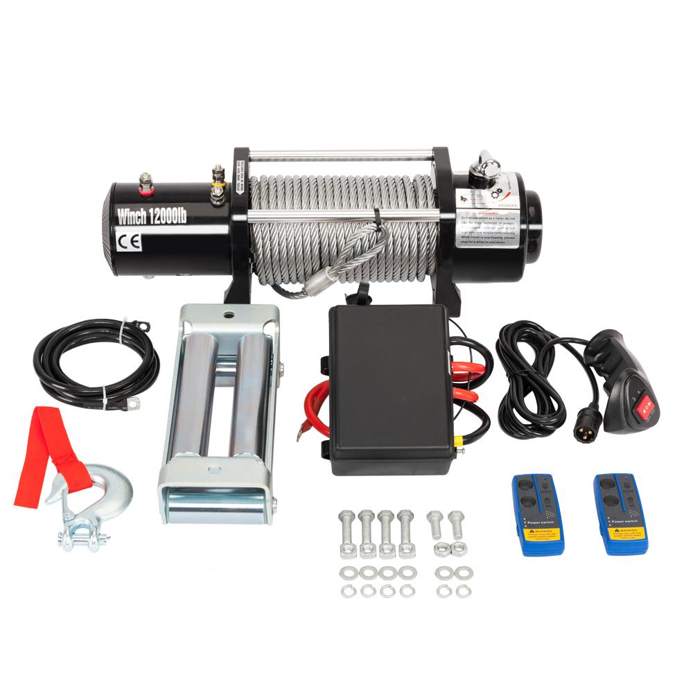 12000lbs 12v Electric Winch for Truck, Trailer SUV Wireless Remote