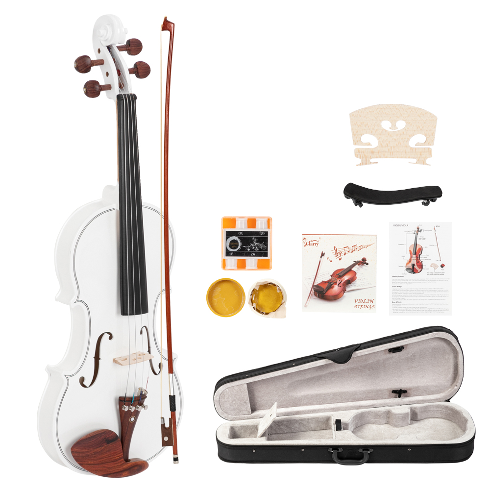 Glarry GV103 4/4 Spruce Panel Violin Matte White