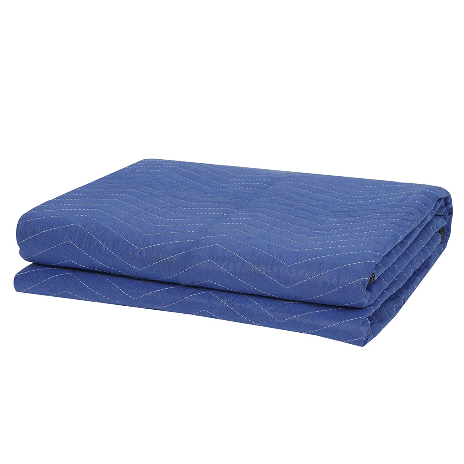 Oshion 12-Pack 80 x 72 inch Moving Blankets, Heavy Duty Moving Pads for Protecting Furniture, Professional Quilted Shipping Furniture Pads, Blue