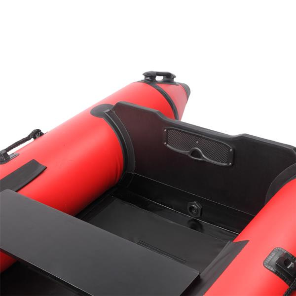 Camping Survivals 7.5ft PVC 180kg Water Adult Assault Boat Red And Black
