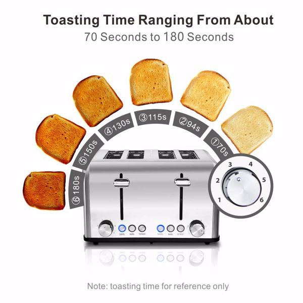 Cusimax CMST-160S  Bakery Toaster 2/4 Slice Extra Wide Slot Toaster Stainless Steel Bagel Bread Toaster(Cannot be sold on Amazon)