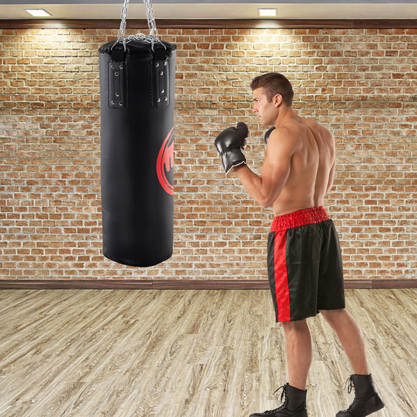 Punching Bag Filled Set , 31 x 12 inches Boxing Hanging Heavy Bag for Kickboxing Fitness Training Muay Thai MMA, Martial Arts, Home Gym
