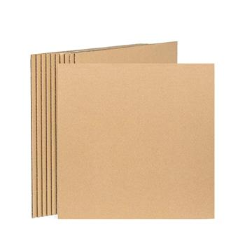 50pcs Kraft Brown LP Record Pads 12.25 x 12.25 Inches Extra Protection for Shipping Records