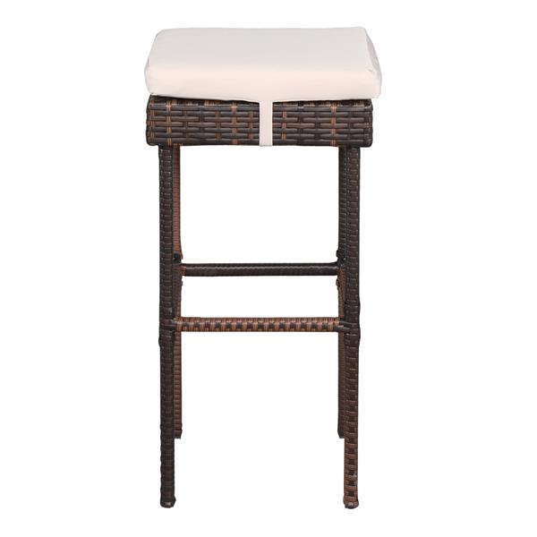 Bar Table And Bar Stool Three-Piece Set Brown Gradient