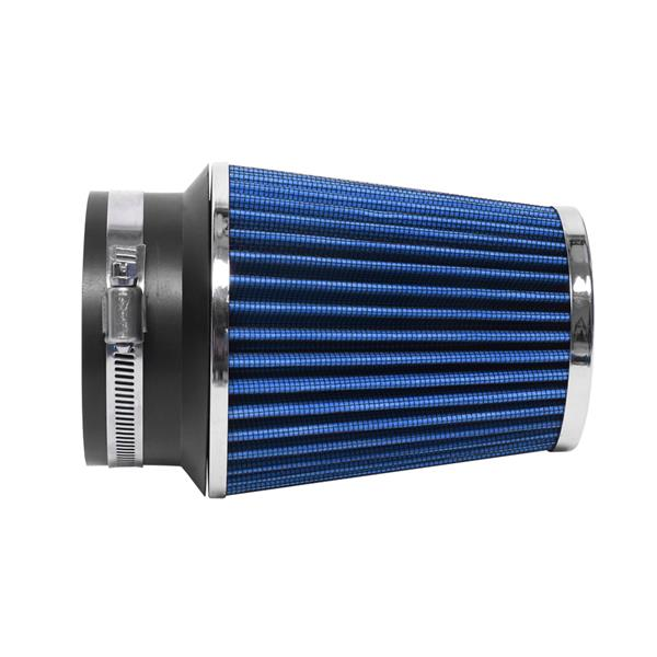 """The 3.5"""" Intake Kit Is Available For The Ford Mustang 1996-2004 V8 4.6L Black   Blue"""